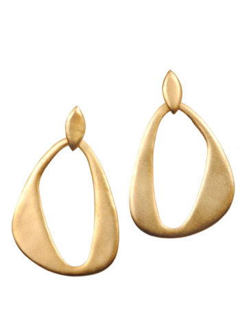 Gold finish contemporary earrings
