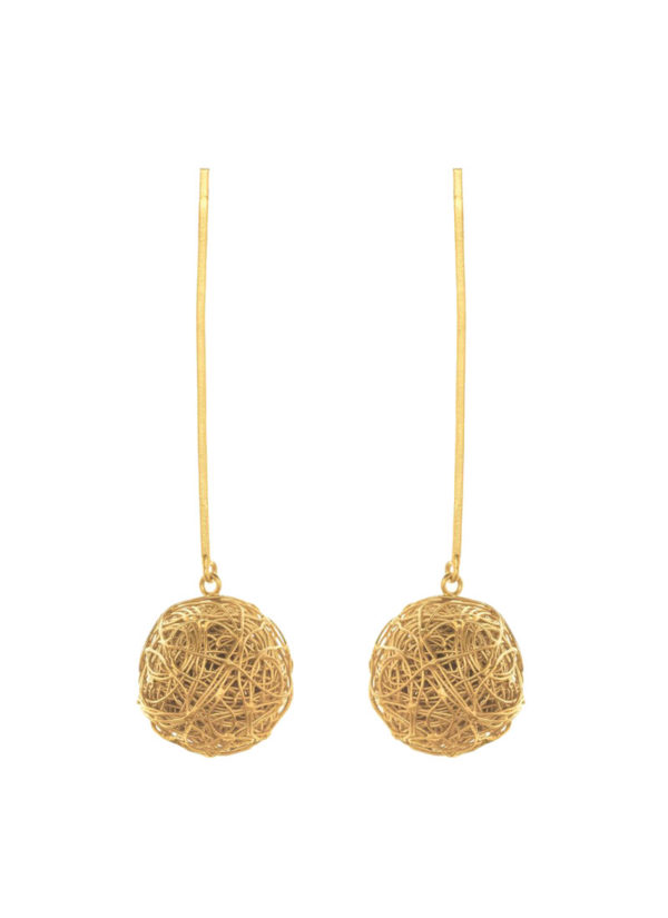 Gold plated baubles in brass