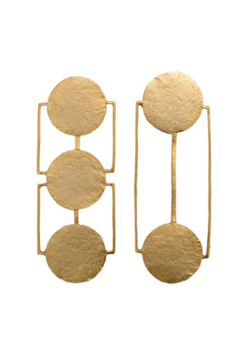mismatch earrings in brass