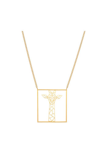 GIRAFOMETRIC NECKLACE - geometric giraffe necklace set