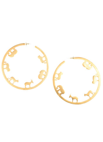 ODE HOOPS BIG - ode hoops in brass metal