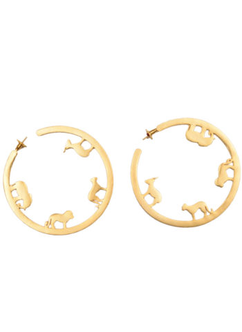 ODE HOOPS PETIT - ode hoops with animal silhouettes