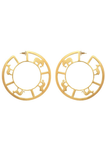BAYO HOOPS BIG - bayo hoops with animal silhouettes