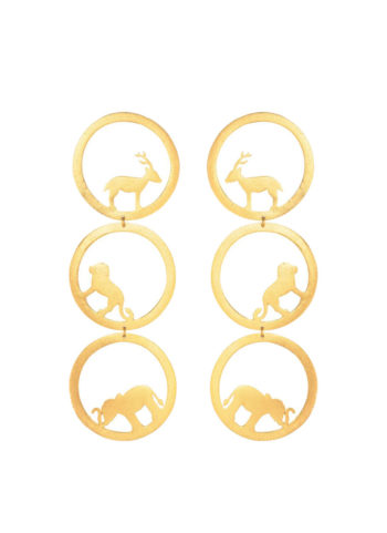 AMARE EARRINGS - with animal silhouettes