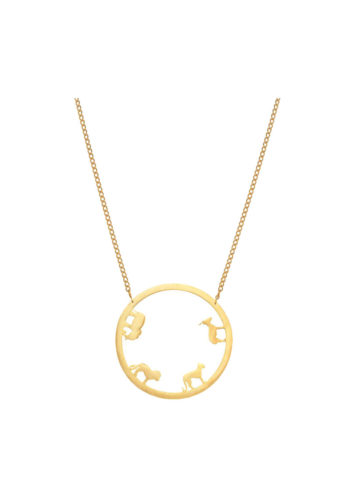 ODE NECKLACE SMALL - circular necklace of animal silhouettes