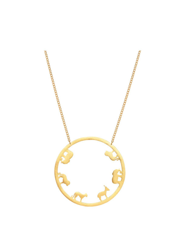 ODE NECKLACE BIG - circular necklace set in brass
