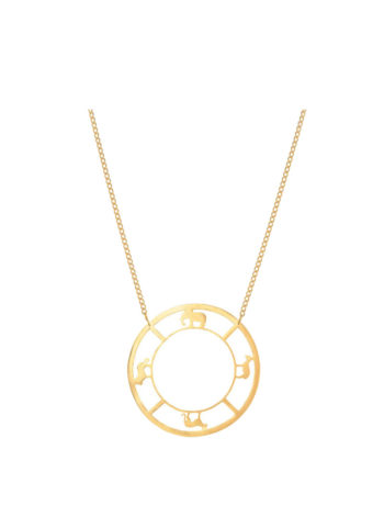 BAYO NECKLACE - featuring a circular necklace