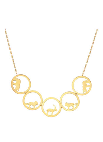 AMARE CHOKER - Choker with animal silhouettes