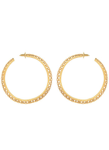 SLYTHERING HOOPS - hoops set in brass metal