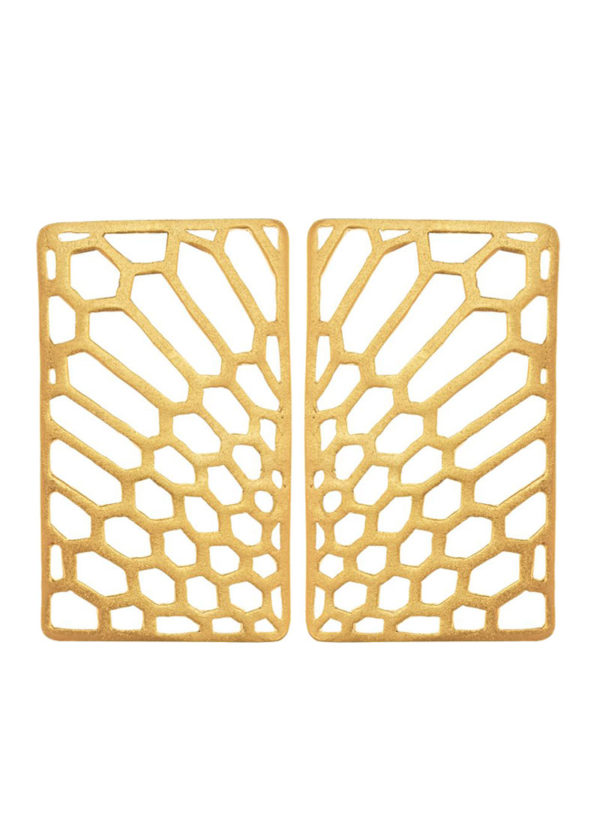 PEAU DE SERPENT STUDS - studs set in brass metal