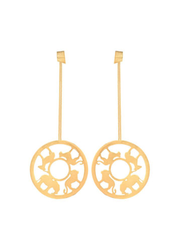 SAFIYA EARRINGS - Chain earrings with animal silhouettes