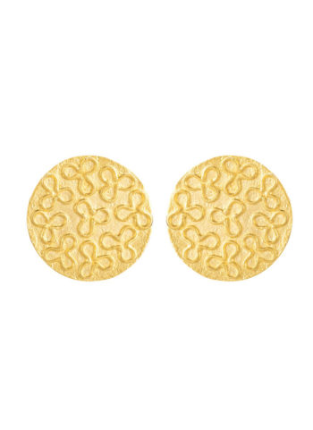 Royal-Robe-Pattern-Earrings-Small - handcrafted in brass and gold plated