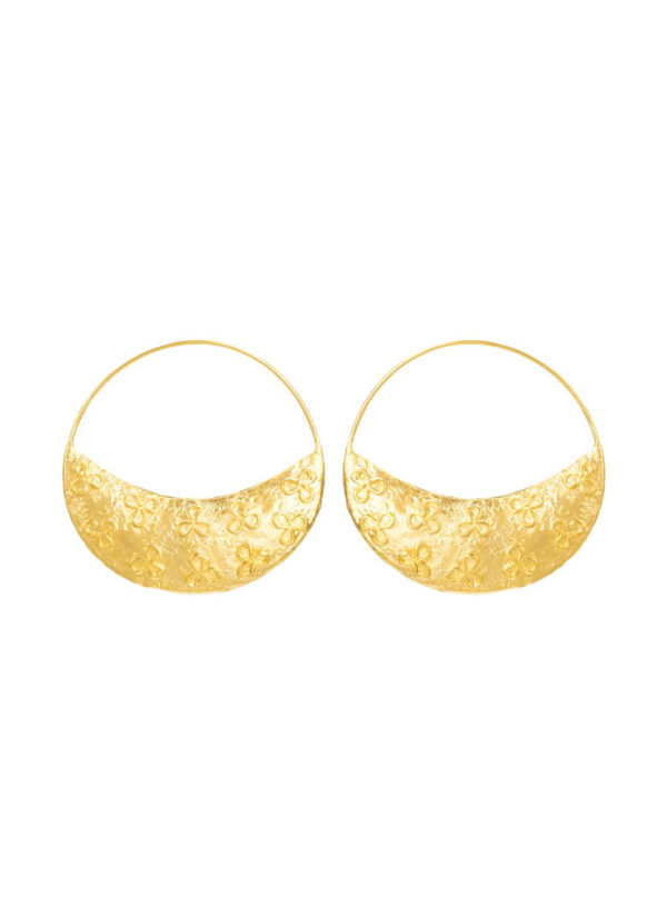 MELUHA REGAL HOOPS - handcrafted in gold plated