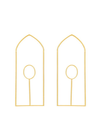 ALPHA EARRINGS - the pictographic symbols