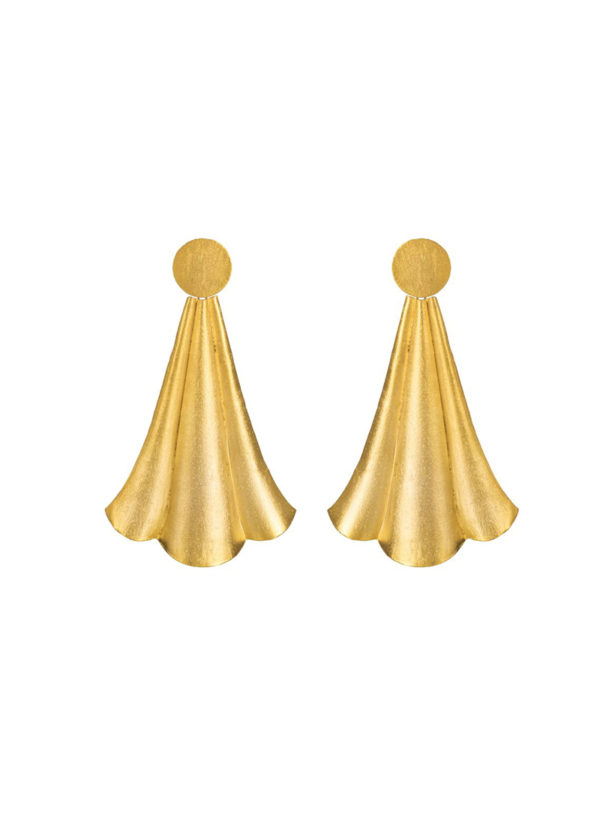 ENIGMA EARRINGS SMALL - Handcrafted earrings with gold plating