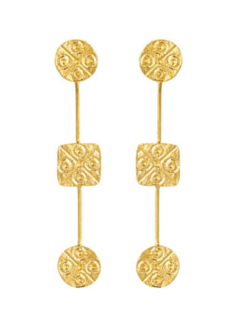 MUDRA EARRINGS - geometrically shaped earrings