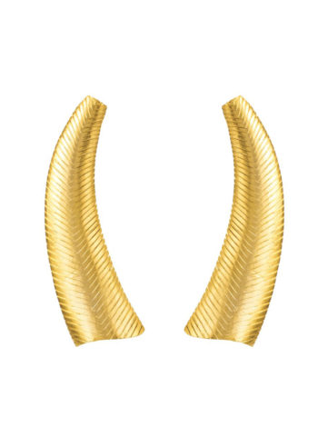 The majestic Chiseled horn earrings