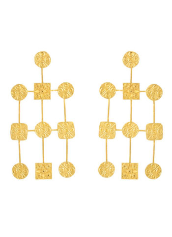 Cirsquare Seal Waterfall earrings