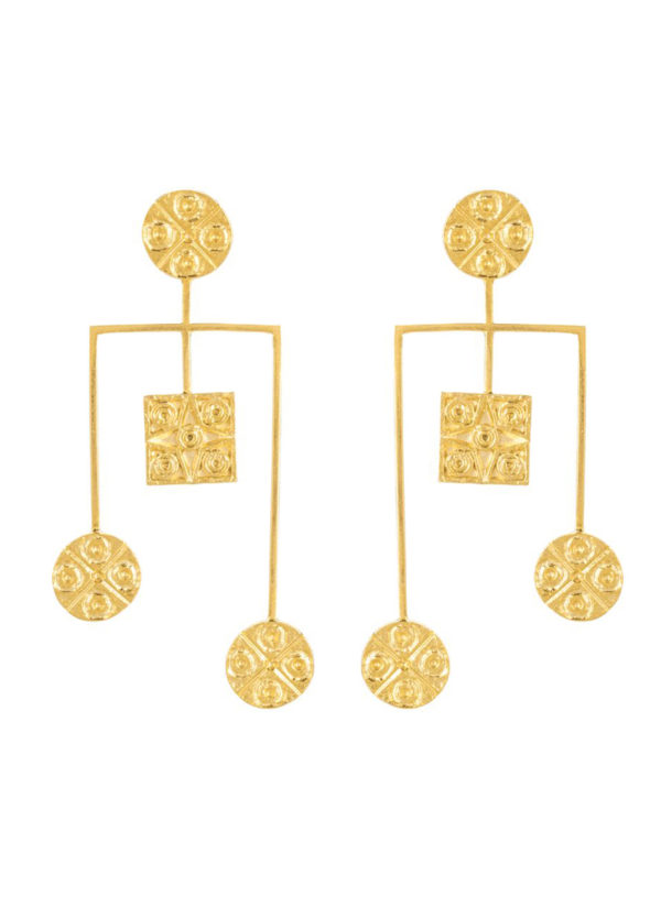 MUDRA WATERFALL EARRINGS - Unbashedly eyecatching and handcrafted
