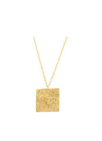 Zebu necklace with gold plating