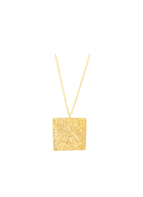 PASHUPATI SEAL Necklace - Handcrafted in brass and gold plated