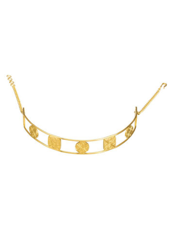 Cirquare Seal Choker - Gold Plated Geomatrical