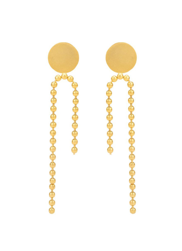 CARNELIAN EARRINGS - handcrafted in brass and gold plated