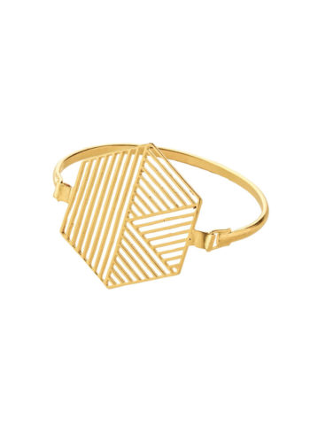 Geometric Hexagon Bracelet in brass