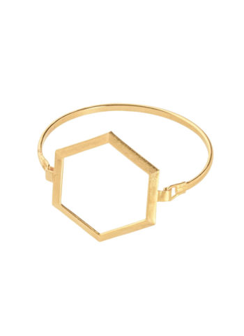 Geometric hexagon frame bracelet