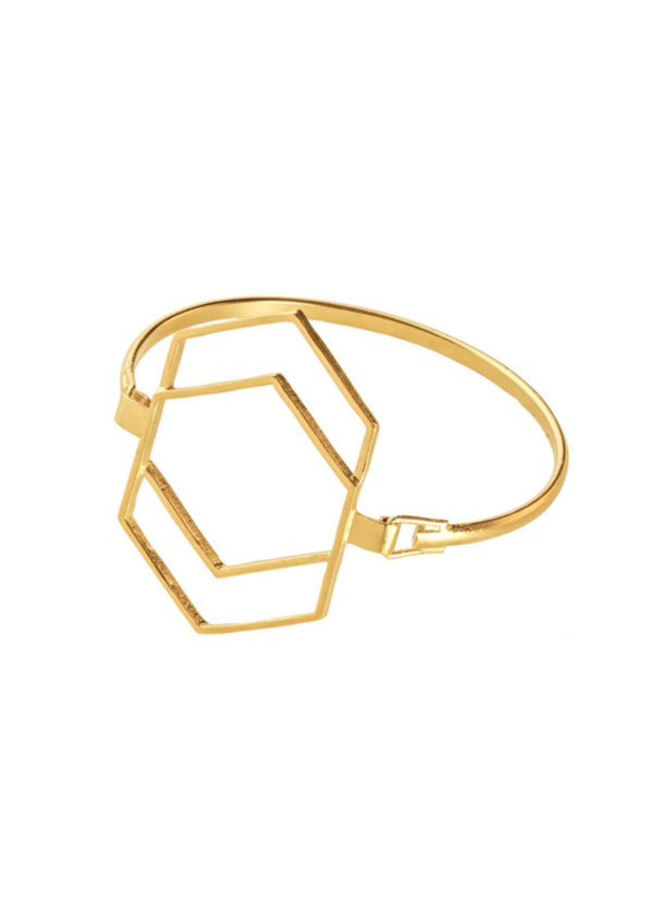 gold plated hexatassel bracelet
