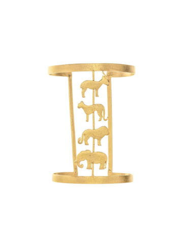 ISABIS CUFF - Cuff with animal silhouettes