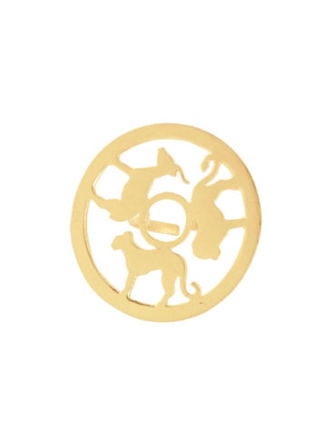 AMARE RING - animal silhouettes set with brass