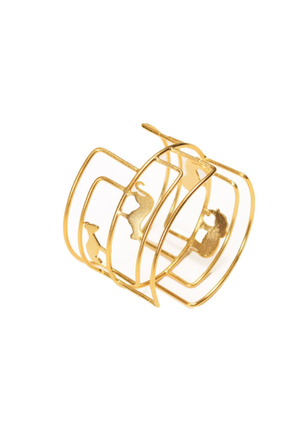 kwame bangle - Bangle with animal silhouettes