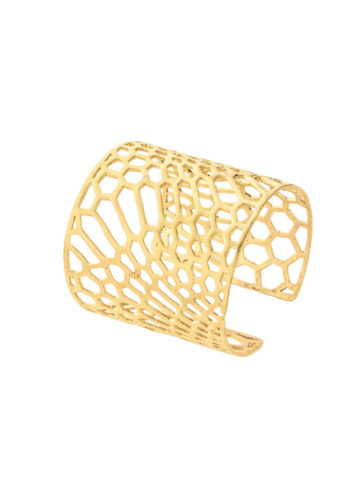 PEAU DE SERPENT CUFF - cuff set in brass metal