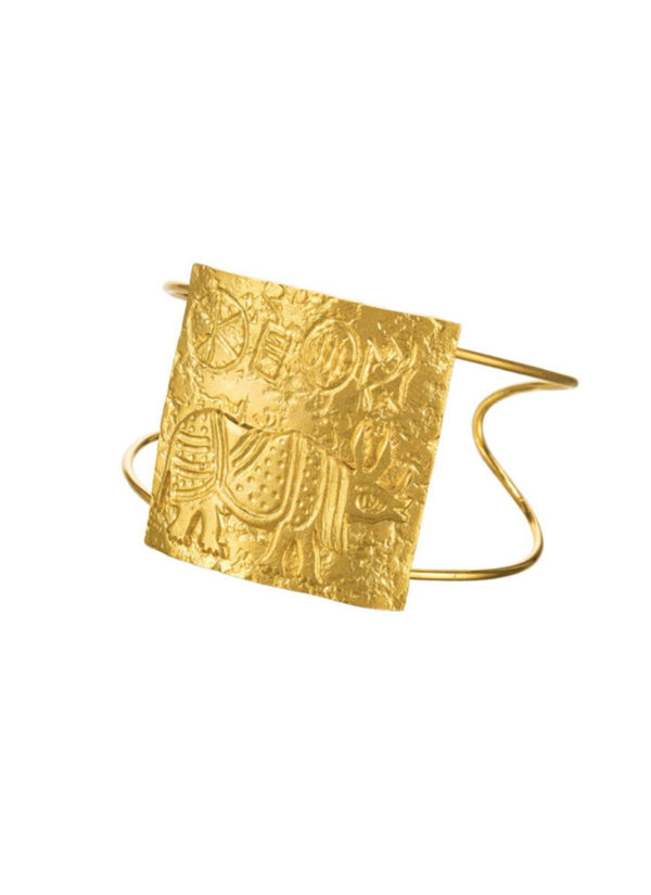 rhino-seal-cuff -artisanal piece handcrafted in brass