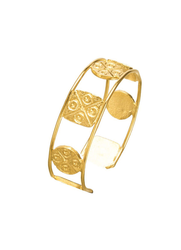 CIRQUARE SEAL BRACELET - Carved with geometrical patterns